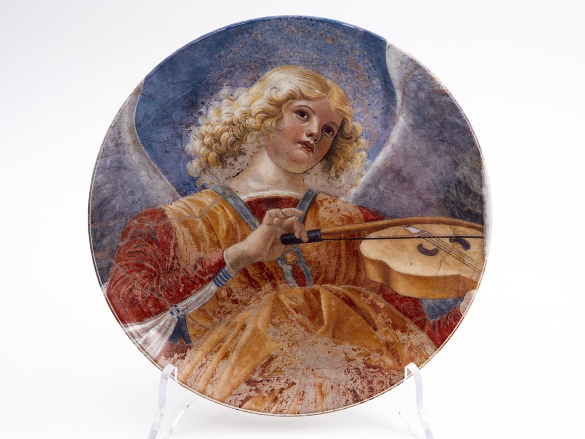 Piatto Decorativo – Angelo che suona la viola