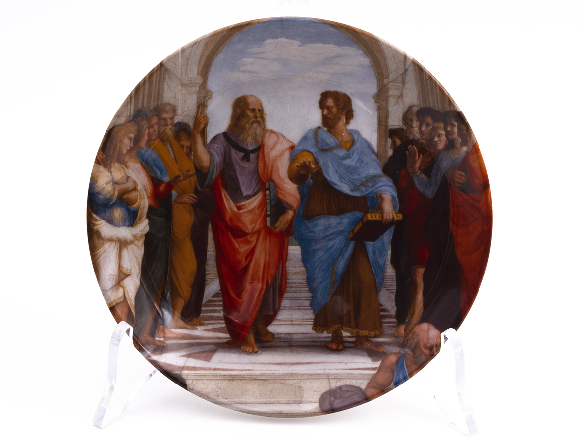 Piatto Decorativo – Scuola di Atene