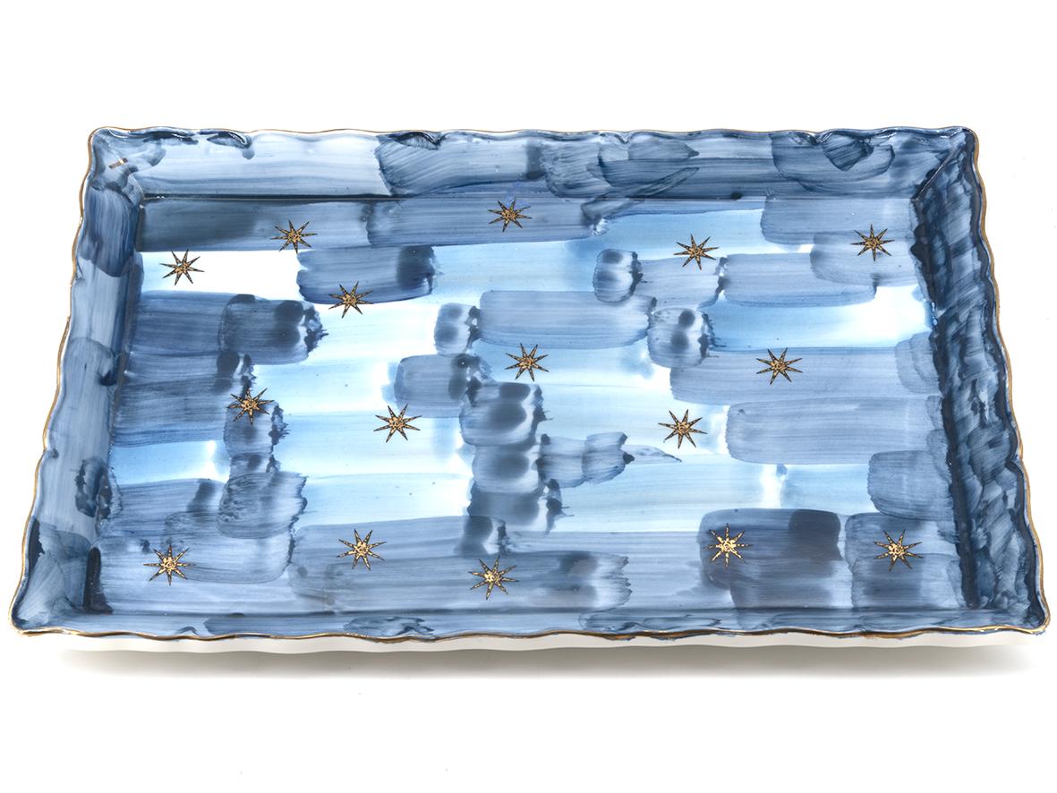 Vassoio decorato con stelle