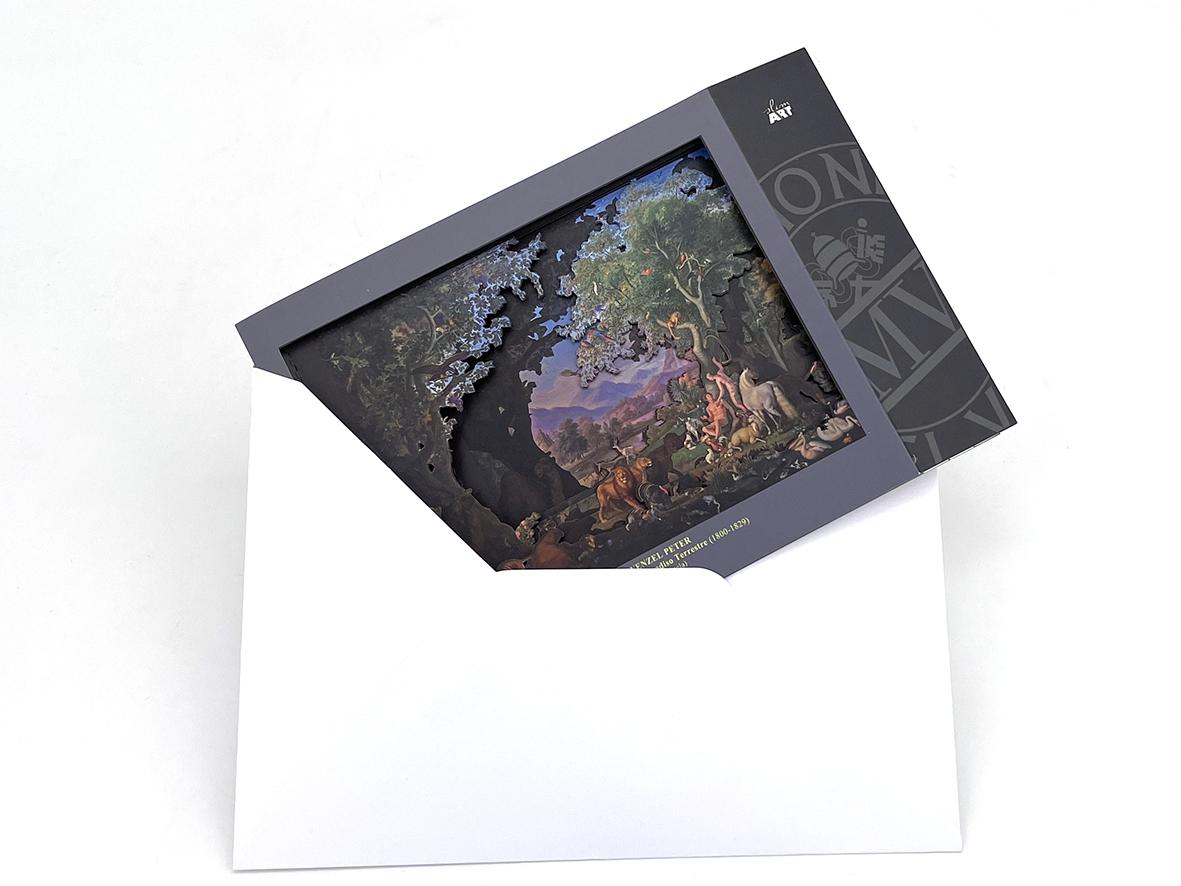 Cartolina in 3D - Adamo ed Eva nel Paradiso Terrestre