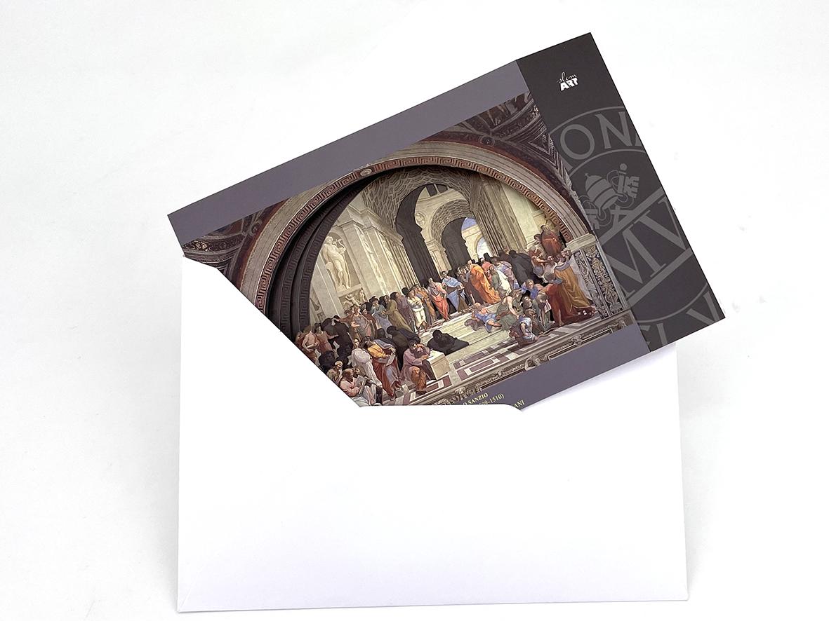 Cartolina in 3D - La Scuola di Atene
