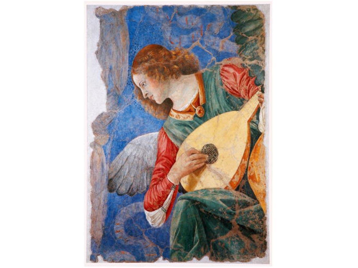 Poster Angelo con Liuto - 69,5 x 49,5