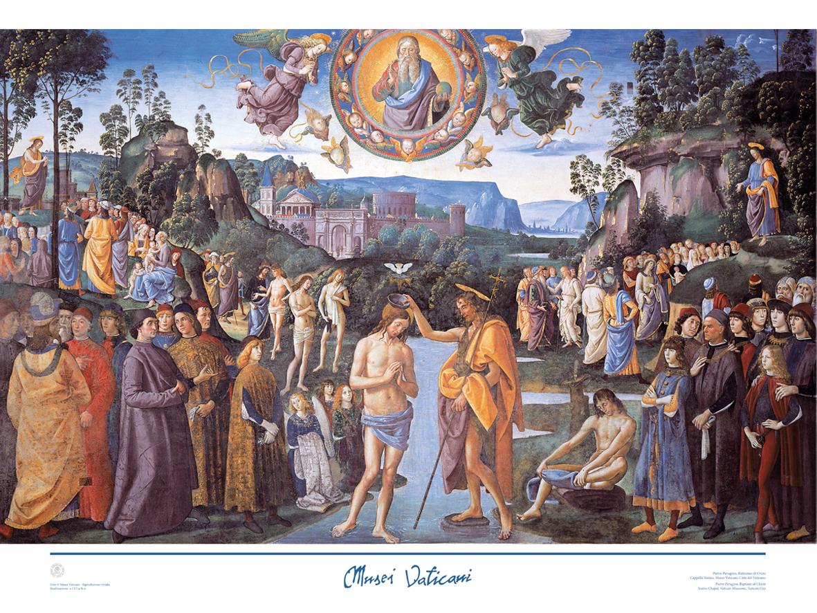 Poster Battesimo (Perugino)