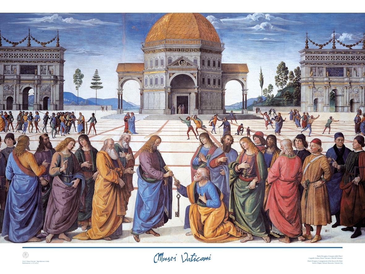 Poster Consegna delle Chiavi (Perugino)