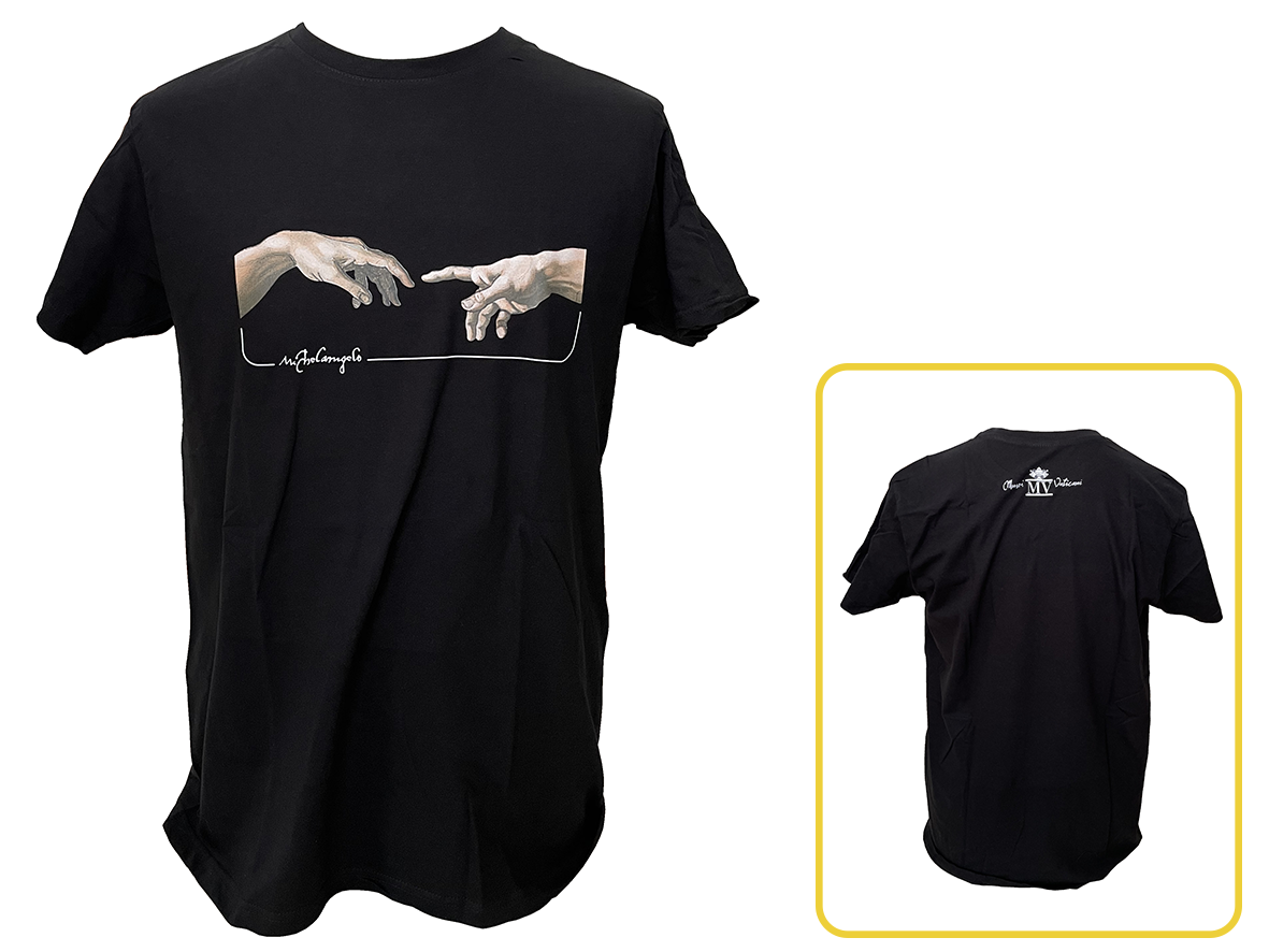 T-Shirt Uomo - Michelangelo Creazione Particolare Mani