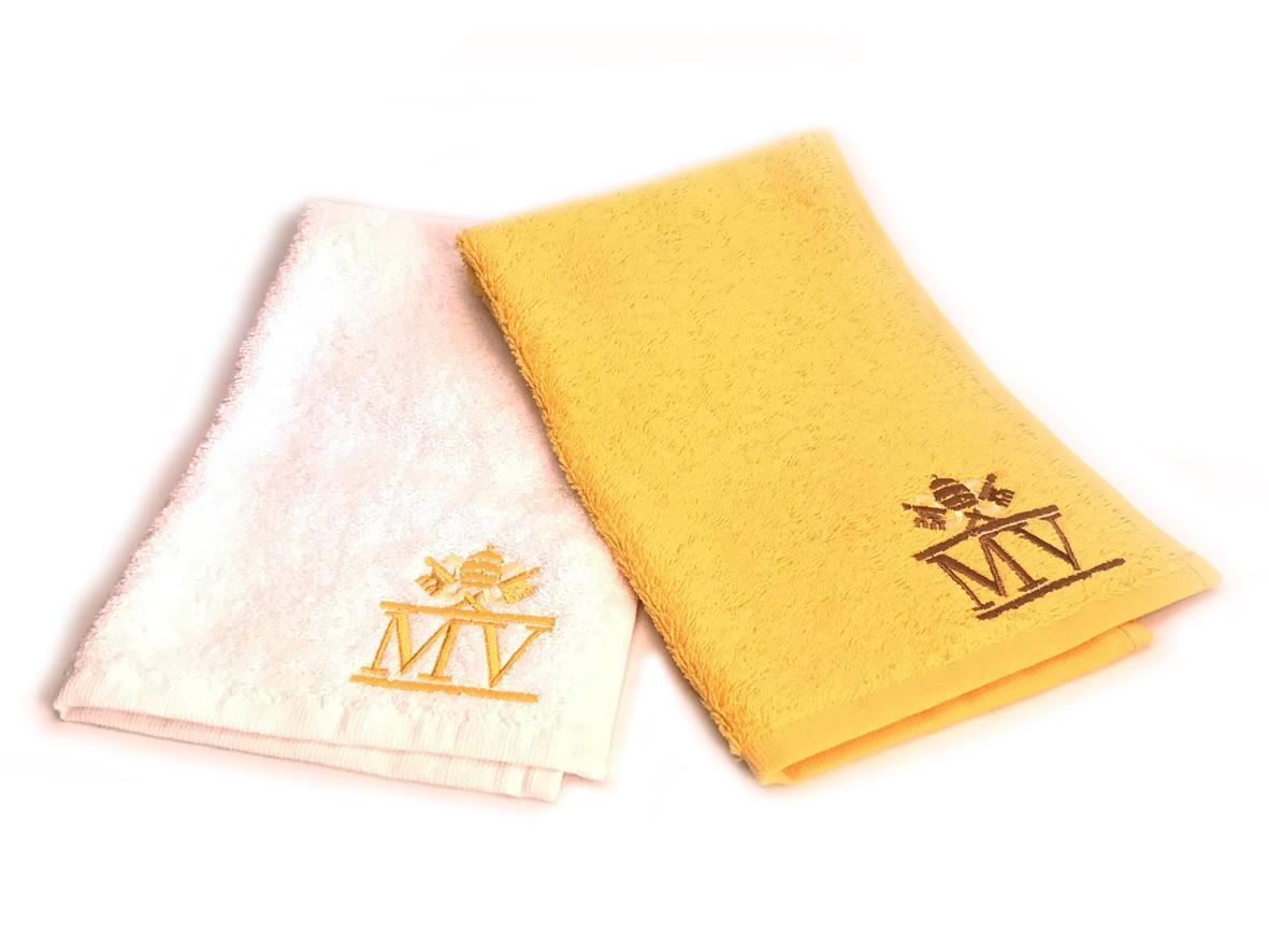 Set di lavette bianca e gialla