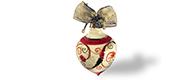 Decorazione di Natale – Palla  grande a goccia con fregio a grottesche