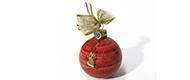 Decorazione di Natale – Palla piccola con decoro a  fiamme dorate