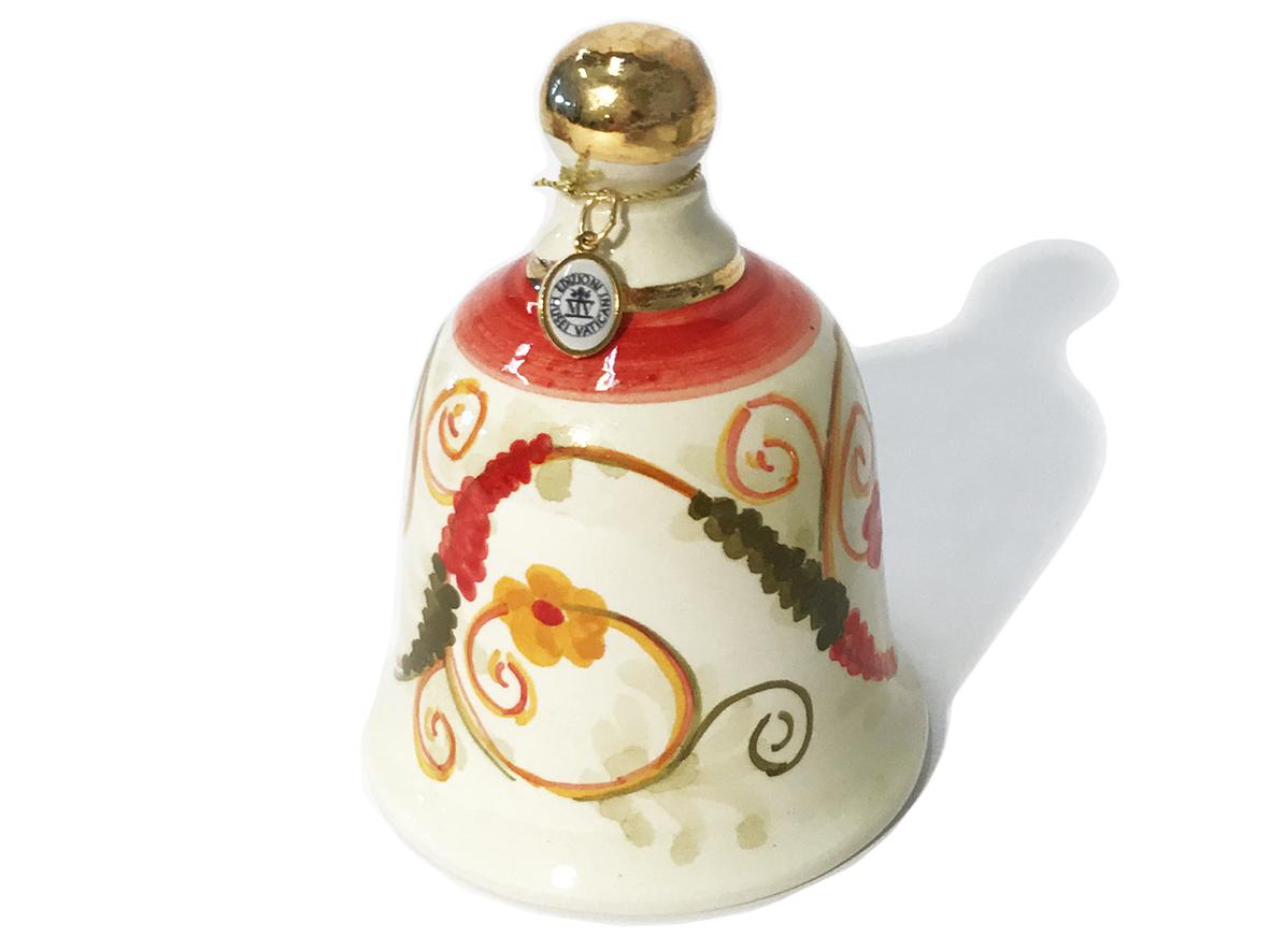 Campana in ceramica con fregio a grottesche